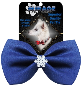 Snowflake Widget Pet Bowtie Blue